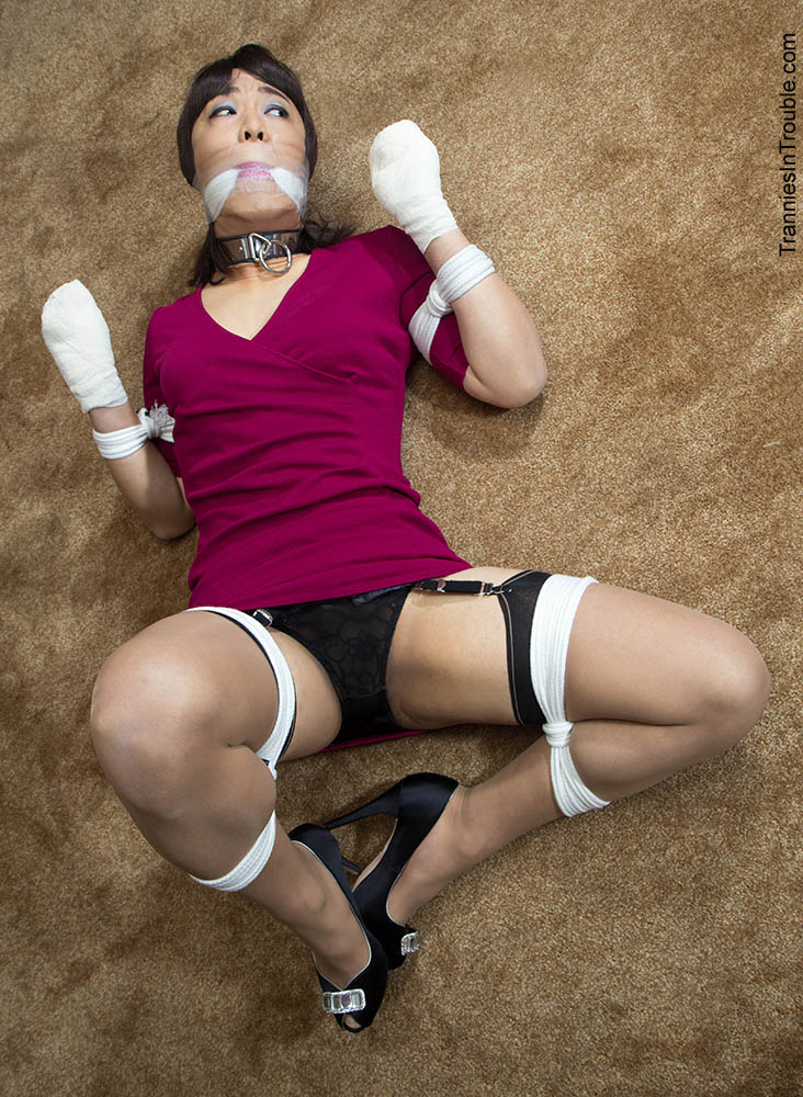 Transvestites bound gagged